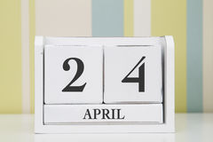 Würfelformkalender für den 24. April Lizenzfreie Stockbilder