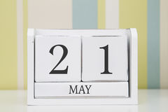 Würfelformkalender für den 21. Mai Lizenzfreies Stockfoto