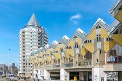 Würfelhäuser entworfen von Piet Blom in Rotterdam; Niederlande Stockbild