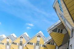 Würfelhäuser entworfen von Piet Blom in Rotterdam; Niederlande Lizenzfreie Stockfotos