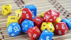 Würfelt für RPG, Brettspiele, Tischplattenspiele oder Kerker und Drachen lizenzfreie stockfotografie