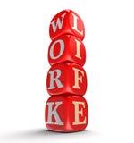 Würfelt und Arbeit, Leben (der Beschneidungspfad eingeschlossen) Lizenzfreie Stockfotografie