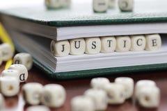 Würfeltext-Gesetzesrichter Lizenzfreie Stockbilder