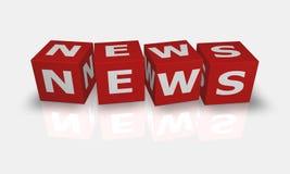 Würfelwort Nachrichten Lizenzfreie Stockfotos
