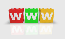 Würfelwort WWW Lizenzfreie Stockfotos