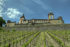 Würzburg, castelo de Alemanha - da fortaleza de Marienberg Foto de Stock Royalty Free