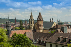 Würzburg, Germany - Aerial view of the Skyline Stock Images