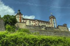 Würzburg, Germany - Marienberg Fortress Castle Royalty Free Stock Photos