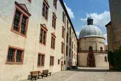 Würzburg, Germany - Marienberg Fortress Inner Courtyard Stock Photography