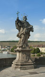 Würzburg, Germany - Old Main Bridge, Statue of a Saint Royalty Free Stock Image