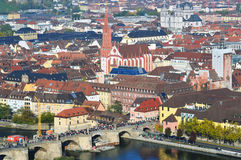 Würzburg in Germany. The scenery of Würzburg in Germany stock photography