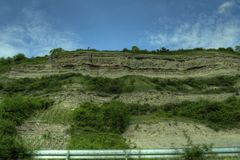 Würzburg, Germany - Vineyard rockface Royalty Free Stock Photography