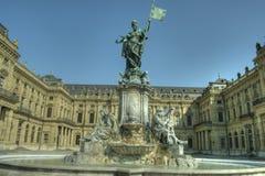 Würzburg, residenza di Würzburg - della Germania e giardino della corte Fotografia Stock Libera da Diritti