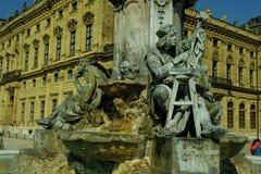Würzburg, residenza di Würzburg - della Germania e giardino della corte Immagine Stock