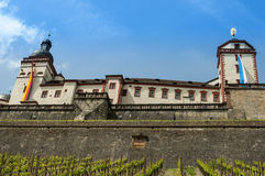 Würzburg Tyskland - Marienberg fästning Royaltyfri Fotografi