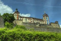 Würzburg Tyskland - Marienberg fästningslott Royaltyfria Foton