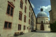 Würzburg Tyskland - Marienberg fästningslott Arkivbild