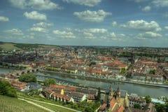 Würzburg Tyskland - Marienberg fästningslott Arkivfoto