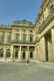 Würzburg Tyskland - Würzburg uppehåll och domstolträdgård Arkivfoton