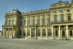 Würzburg Tyskland - Würzburg uppehåll och domstolträdgård Arkivbild