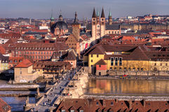 Würzburg von oben lizenzfreie stockbilder