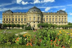 Würzburg-Wohnsitz Stockbilder