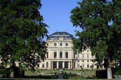 Würzburg-Wohnsitzpalast in Deutschland Lizenzfreies Stockfoto