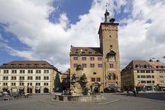 WürzburgRathaus, Deutschland Stockbild