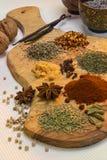 Würzen - Gewürze benutzt beim Kochen Lizenzfreie Stockfotos
