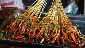 Würzige gebratene Krake, Chengdu, Sichuan Stockfoto