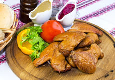 Würzige Hühnerflügel lizenzfreie stockfotos