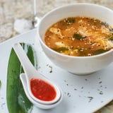 Würzige koreanische kimchi Suppe Lizenzfreie Stockfotos
