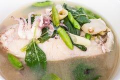 Würzige Meeresfrüchte-Suppe Stockfotos