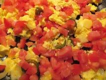 Würzige mexikanische durcheinandergemischte Eier stockfoto