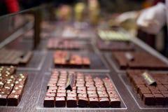 Würzige Quadrate der Milchschokolade Lizenzfreies Stockfoto