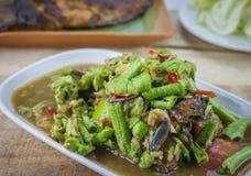 Würzige Salat yardlong Bohne Lizenzfreies Stockbild