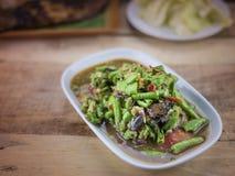 Würzige Salat yardlong Bohne Stockbild