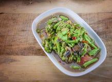 Würzige Salat yardlong Bohne Stockfotos