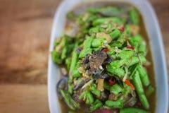 Würzige Salat yardlong Bohne Lizenzfreies Stockfoto