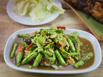 Würzige Salat yardlong Bohne Lizenzfreie Stockfotografie