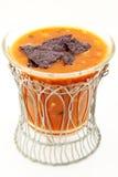 Würzige Tortilla-Suppe in der Schüssel Lizenzfreies Stockfoto