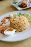 Würziger gebratener Reis mit Eiern lizenzfreie stockfotos