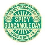 Würziger Guacamole-Tag, am 14. November stock abbildung