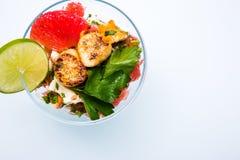 Würziger Hummer-und Pampelmusen-Salat Lizenzfreies Stockbild
