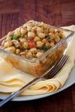 Würziger marokkanischer Kichererbse-Salat - Vegan Lizenzfreie Stockfotos