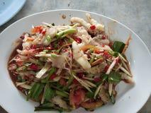 Würziger Papayasalat, thailändisches Lebensmittel Lizenzfreie Stockfotos