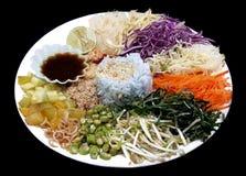 würziger Reissalat mit Gemüse Lizenzfreie Stockfotografie