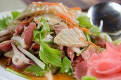 Würziger Salat der siamesischen essbaren Meerestiere Lizenzfreie Stockfotos