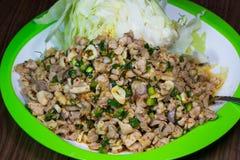 Würziger Salat des gehackten Fleisches Lizenzfreie Stockbilder