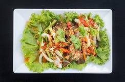 Würziger Salat des knusperigen Schweinefleisch Lizenzfreies Stockfoto